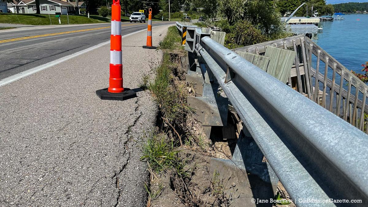 Center Road Erosion on the Old Mission Peninsula | Jane Boursaw Photo