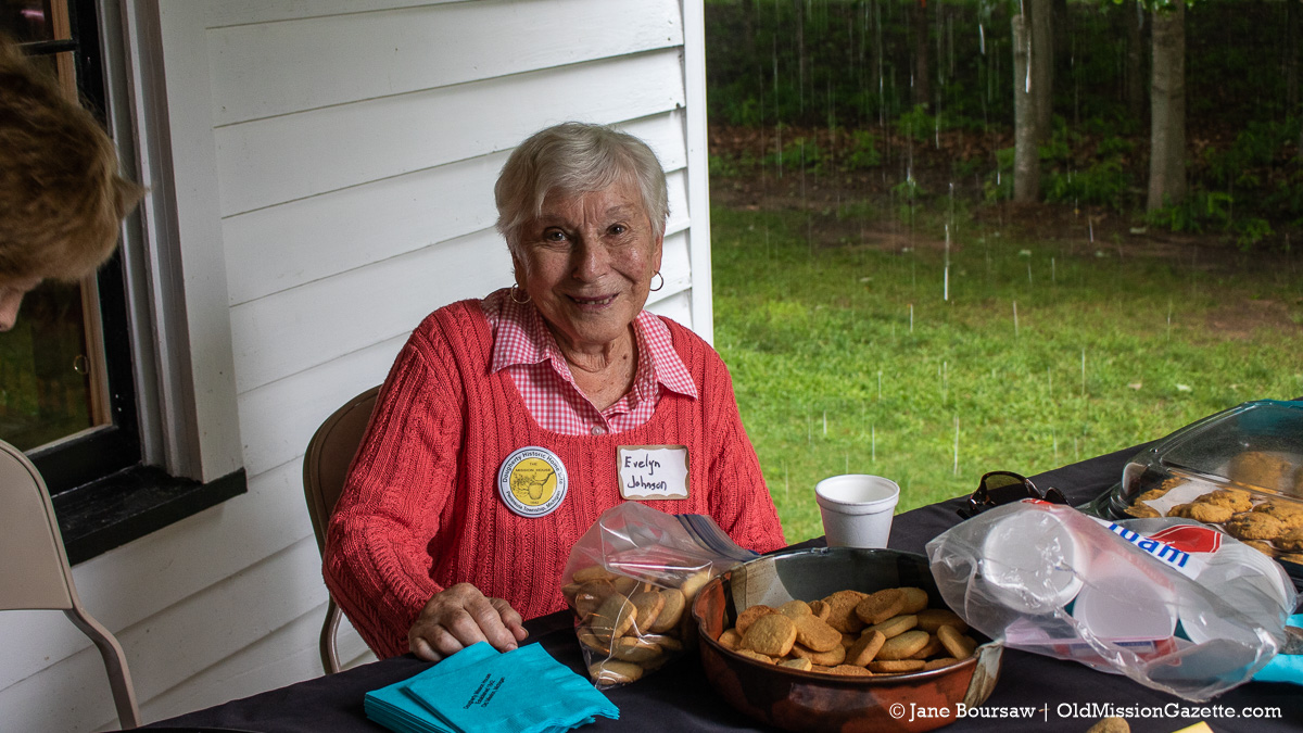 Evelyn Johnson, author of 'Barns of Old Mission Peninsula,' at the Dougherty House; Harvesting History event | Jane Boursaw Photo