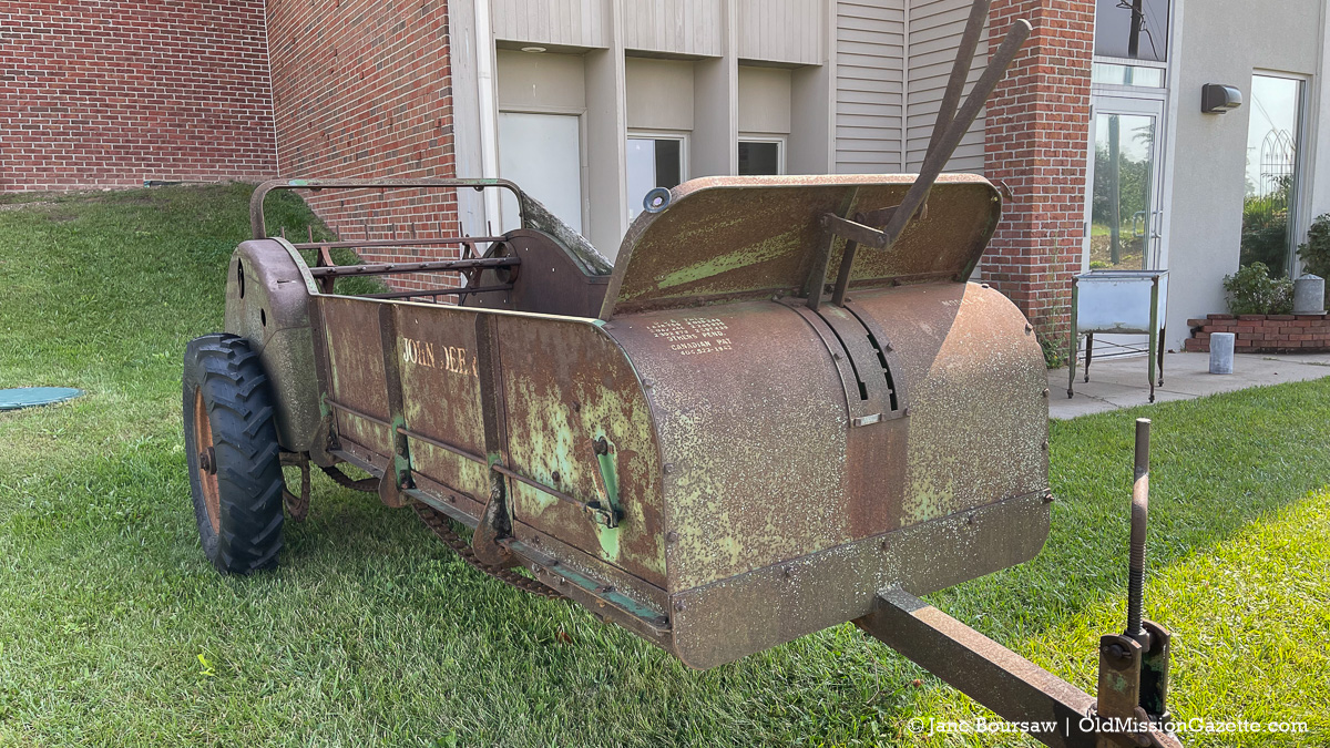 Vintage farm equipment at Old Mission Peninsula United Methodist Church; Harvesting History event | Jane Boursaw Photo