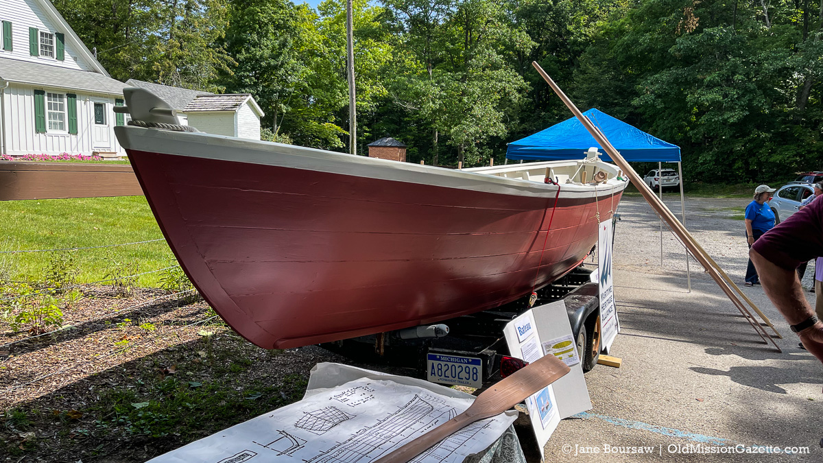 Historic Bateau from the Maritime Heritage Alliance, on display at Mission Point Lighthouse; Harvesting History event | Jane Boursaw Photo