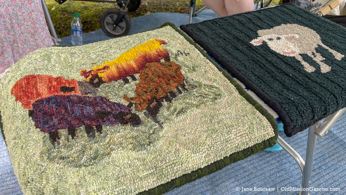 Rug Hookers at the Harvesting History event | Jane Boursaw Photo