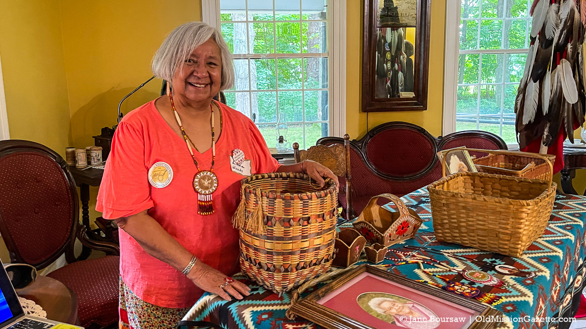 Native American Crafter Linda Woods at the Dougherty House for Harvesting History event | Jane Boursaw Photo