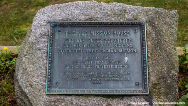 Plaque at the Dougherty House on the Old Mission Peninsula | Jane Boursaw Photo