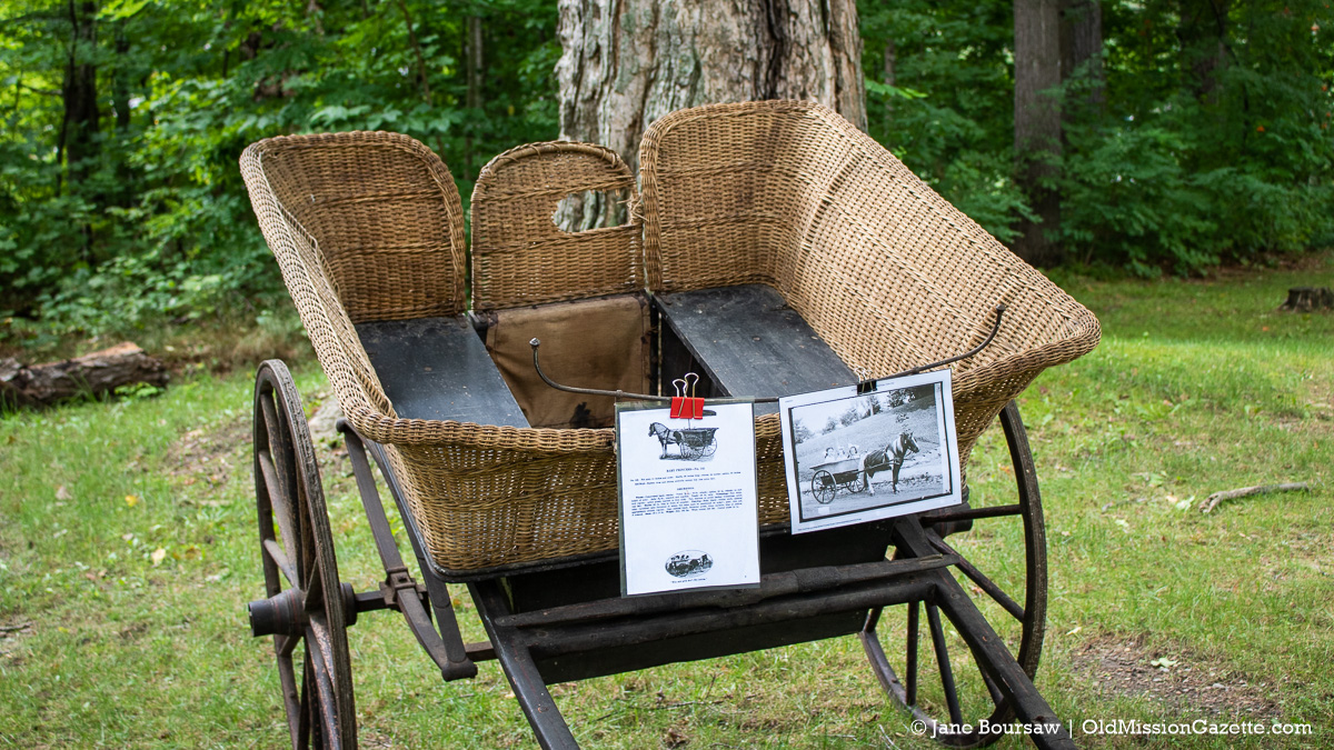 Wicker cart at the Dougherty House for Harvesting History event | Jane Boursaw Photo