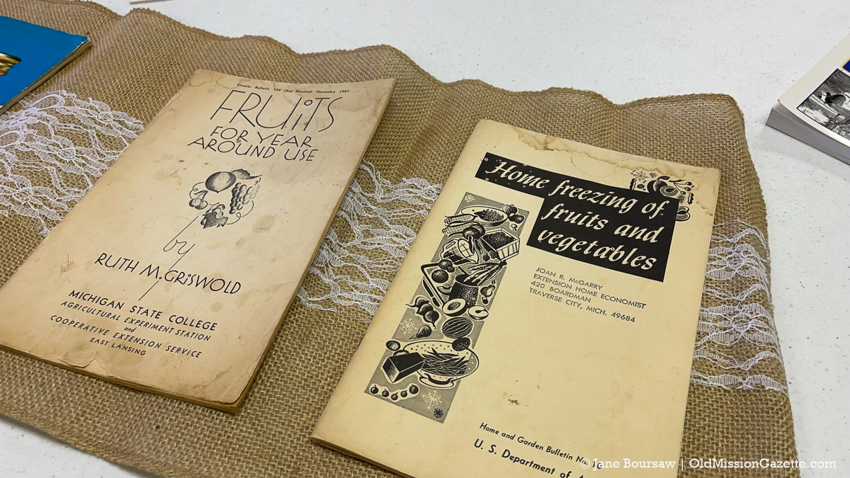 On display at the Old Mission Peninsula United Methodist Church were a variety of vintage cookbooks, cooking tips, baked goods and more | Jane Boursaw Photo