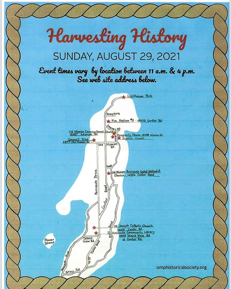 Harvesting History - Map of OMP Locations | OMP Historical Society Graphic