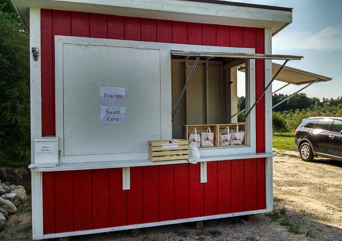 OMP News - Nic Johnson Farm Stand on Center Road, Old Mission Peninsula | Jane Boursaw Photo