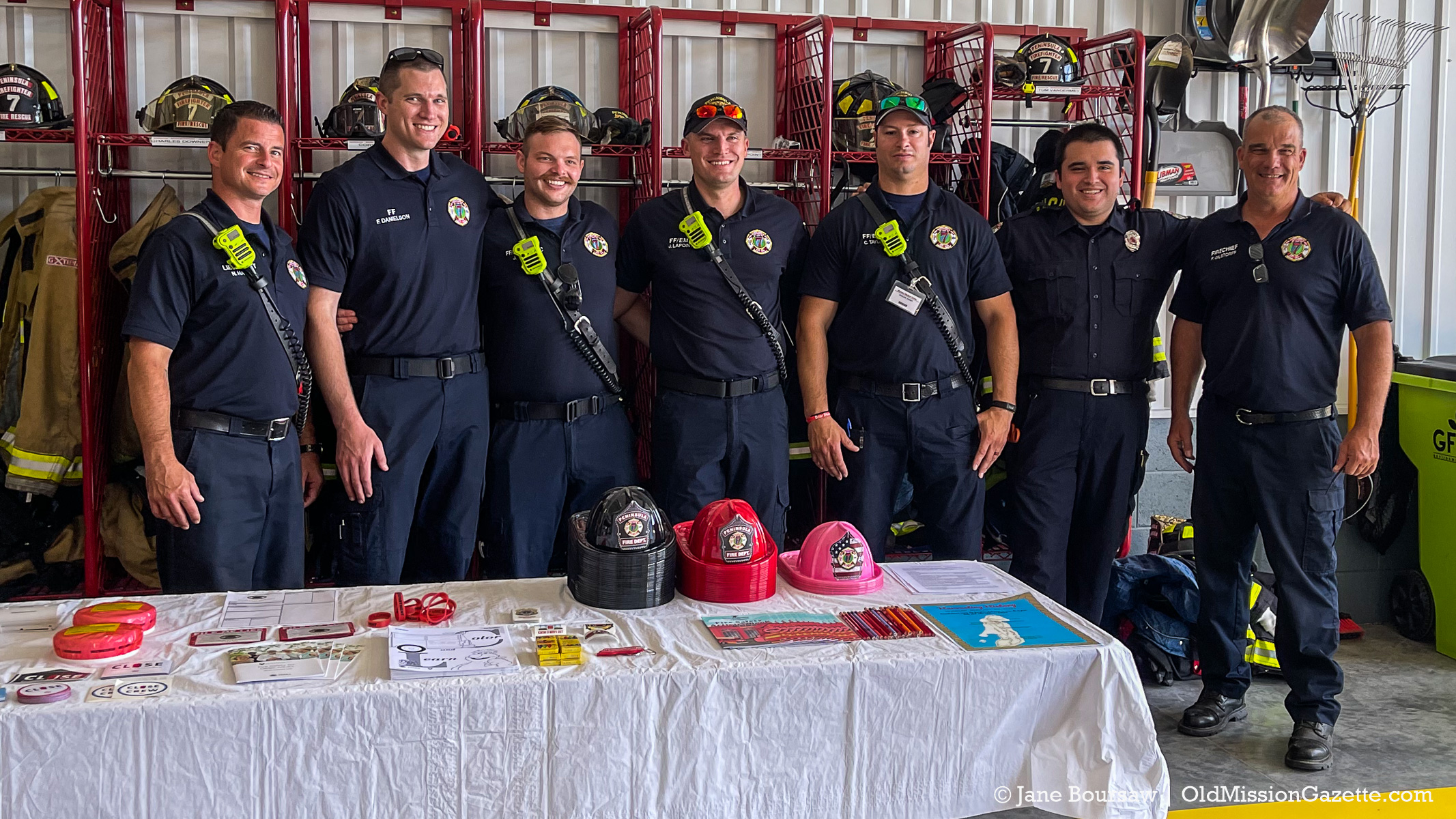 Peninsula Township Fire Department at the Open House for Fire Station 3; Aug. 15, 2021 | Jane Boursaw Photo