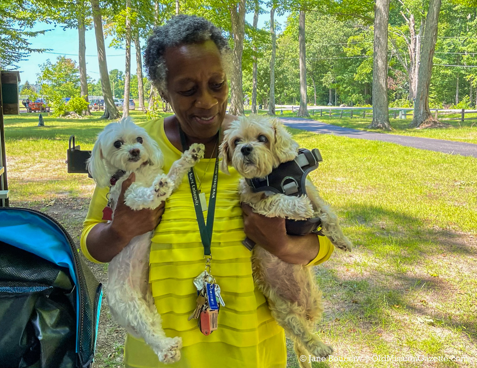 Pastor Zelphia Mobley at her farewell gathering, Bowers Harbor Park | Jane Boursaw Photo