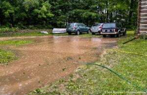 Jane's World - Lake Boursaw during this week's rainstorm | Jane Boursaw Photo