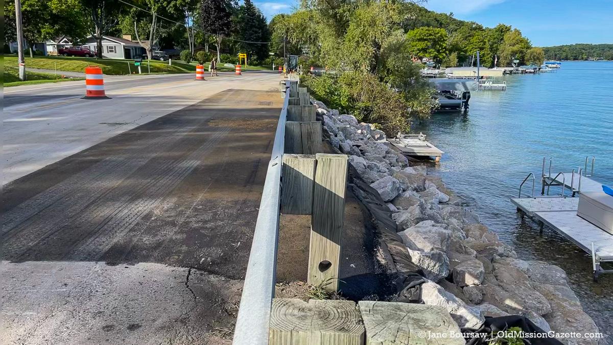 Road Work on Center Road Erosion | Jane Boursaw Photo
