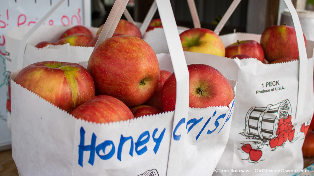 Honeycrisp Apples at Johnson Farms Farm Stand; Center Road on the Old Mission Peninsula | Jane Boursaw Photo