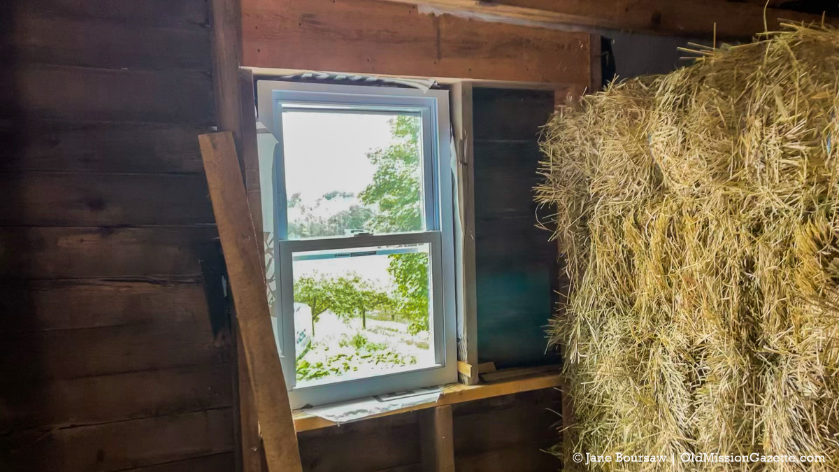 New window on Johnson Barn; Old Mission Peninsula   Jane Boursaw Photo