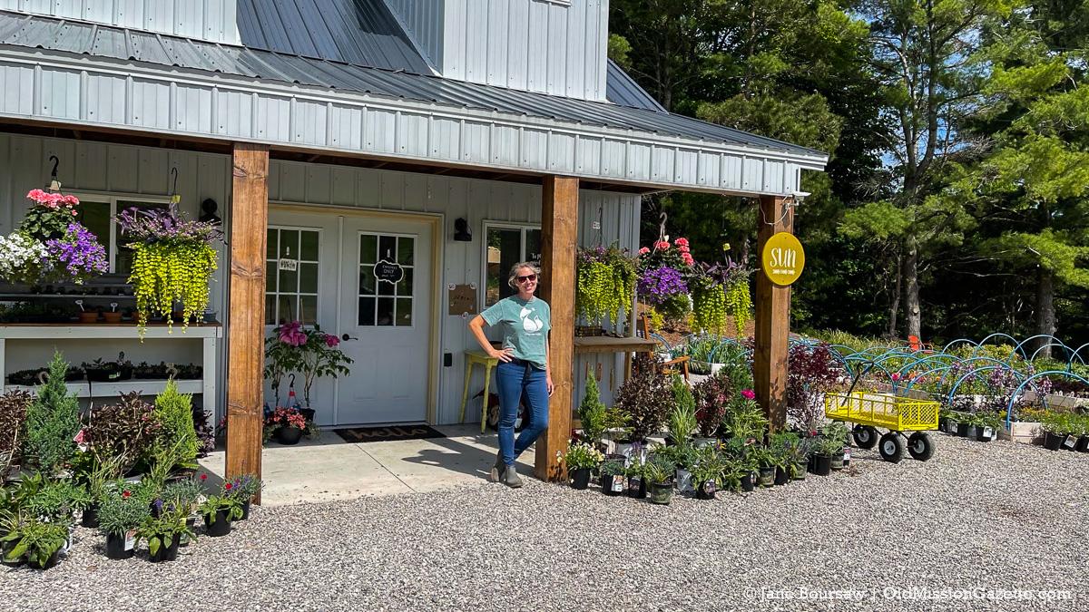 Erin McManus at Little Fox Farm; Center Road on the Old Mission Peninsula | Jane Boursaw Photo