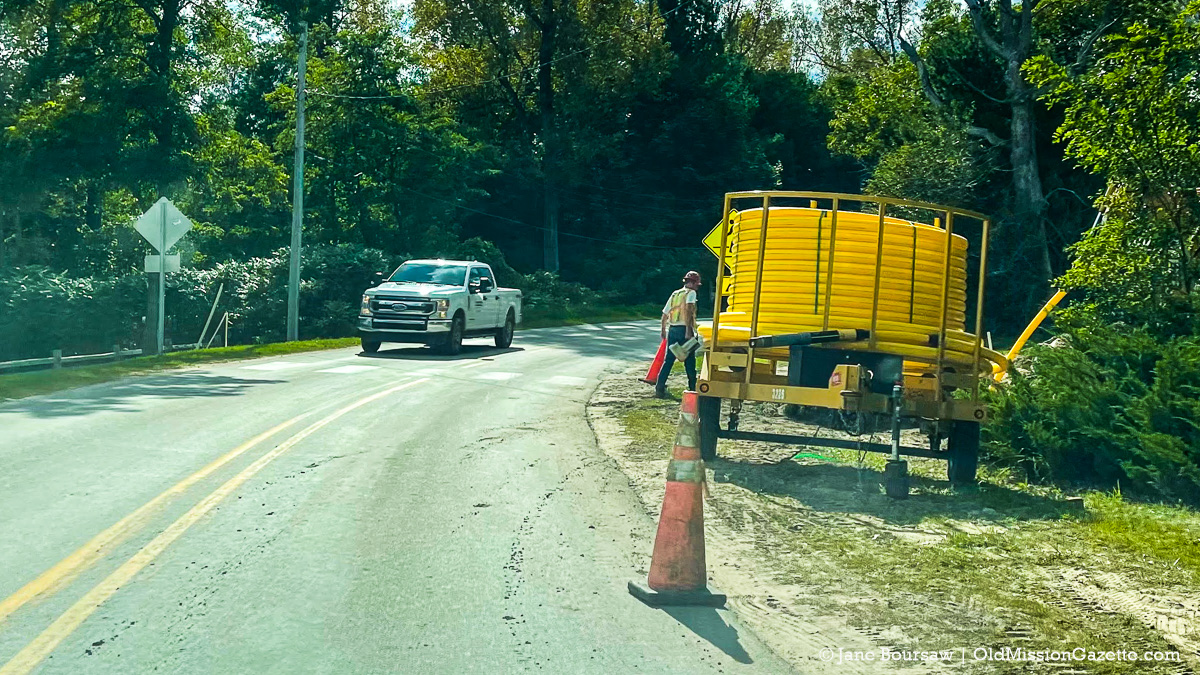 OMP News - Natural Gas Lines in Old Mission Village | Jane Boursaw Photo