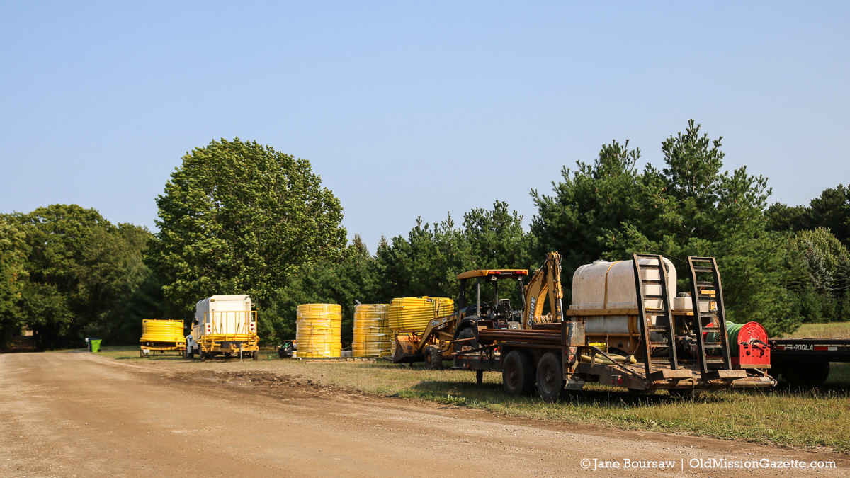 Natural Gas Lines in Old Mission Village | Jane Boursaw Photo