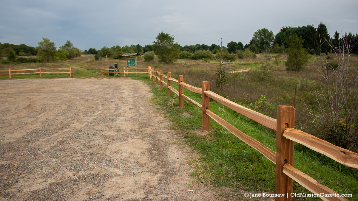 Pelizzari Natural Area gets new fencing around the parking lot | Jane Boursaw Photo