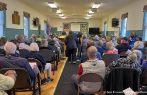 Winery Lawsuit: Residents Pack Township Hall for Town Board Meeting | Jane Boursaw Photo