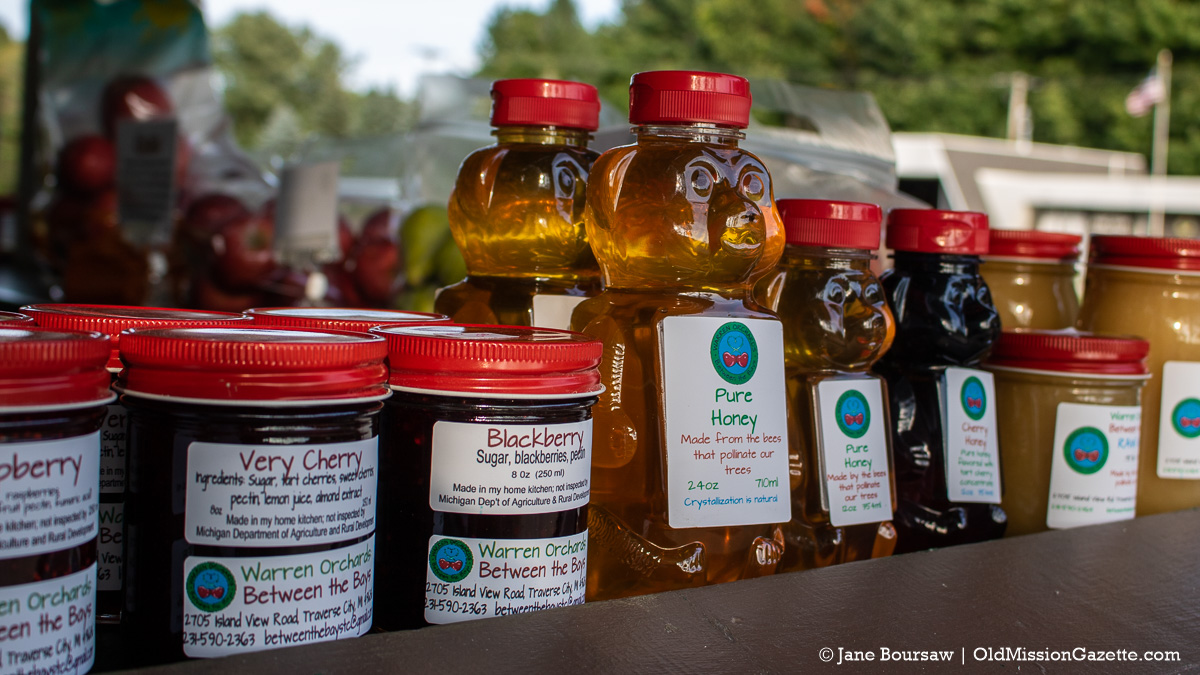 Jams, honey and maple products at Warren Orchards Between the Bays Farm Stand | Jane Boursaw Photo