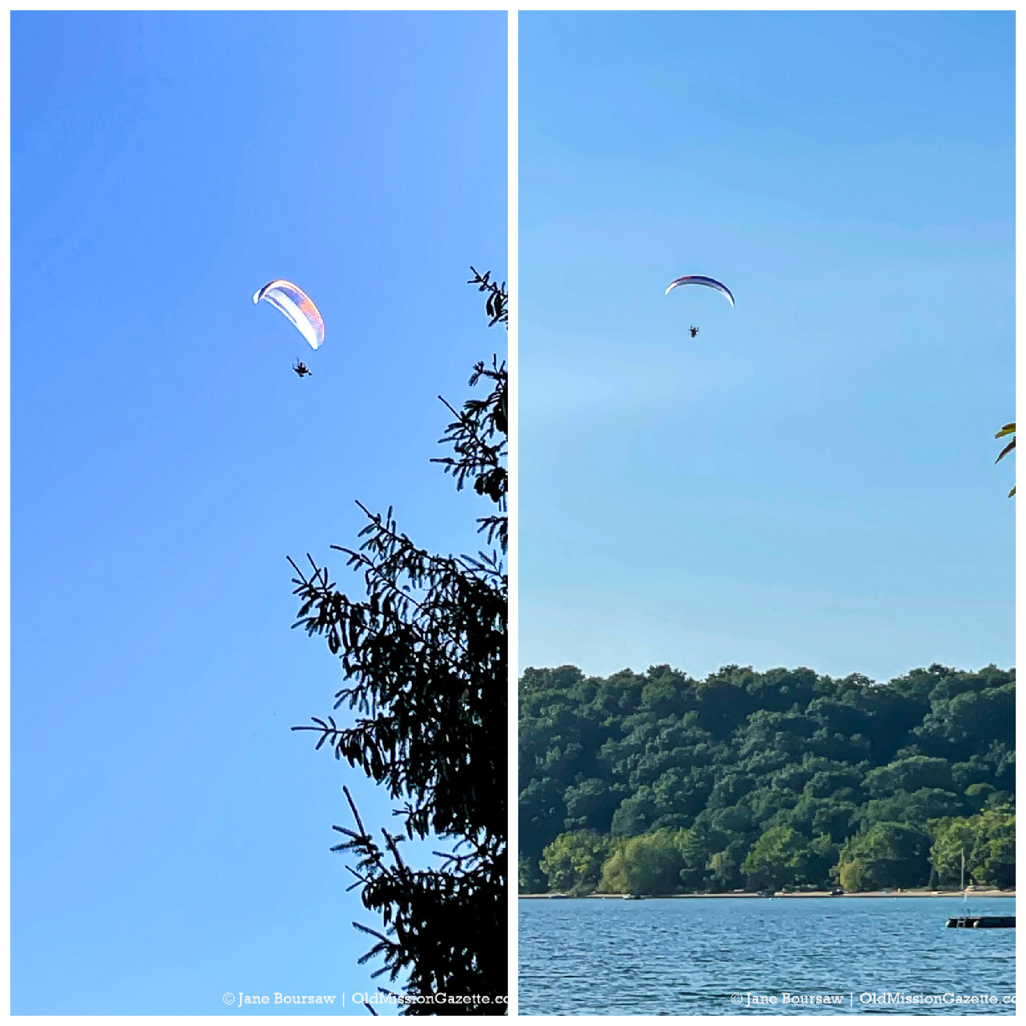 Wind Rider over Bowers Harbor on the Old Mission Peninsula | Jane Boursaw Photo
