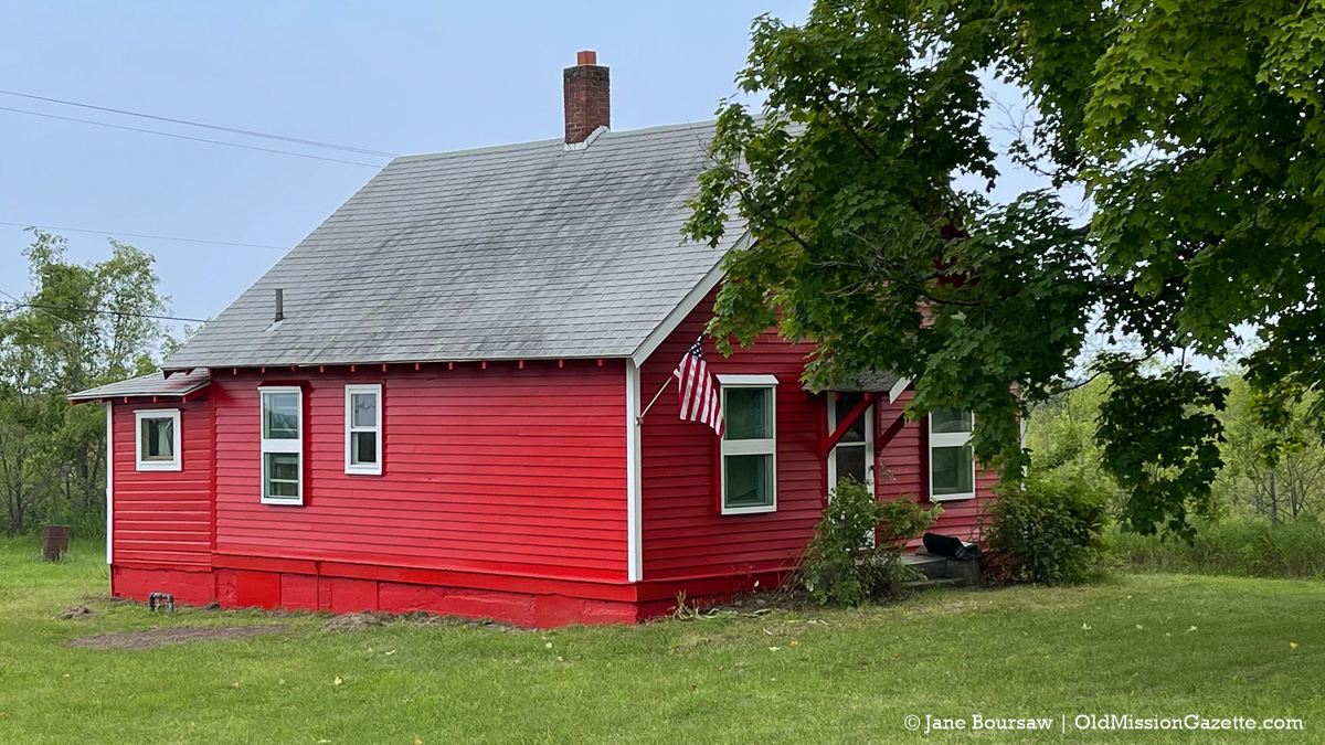 Adorable red house at Harbor View Lavender Nursery and Farm on the Old Mission Peninsula | Jane Boursaw Photo