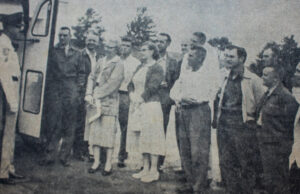 Ed Brown goes to Bus Driver School, 1957, Traverse City, Michigan | Traverse City Record-Eagle; Old Mission Gazette Photo