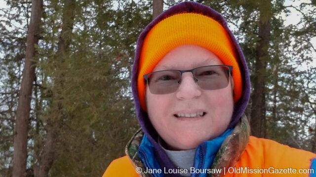 Yours Truly in Orange Hiking Gear   Jane Boursaw Photo